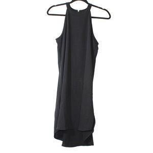 Adrienne Vittadini black dress with gold zipper